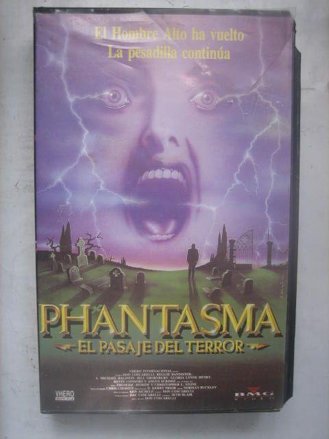 película cine vhs Phantasma el pasaje del terror