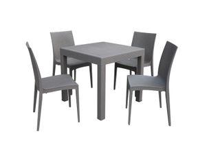 Mesa con 4 sillas para exterior DS01