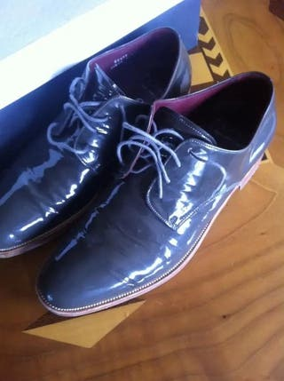 Monge Zapatos De Charol De Lujo Hechas A Mano