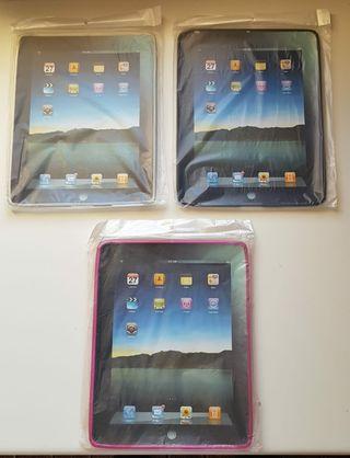 """Funda Silicona iPad 2 3 4 Retina 9'7"""" 3 Colores"""