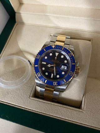 Rolex Submariner oro/acero Azul