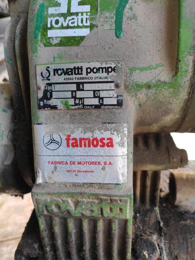 Bomba riego tractor rovatti