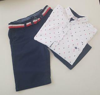 Bermuda y camisa Tutto Piccolo niño