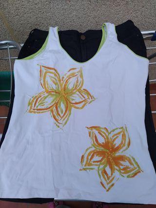 Camiseta tirantes anchos talla M