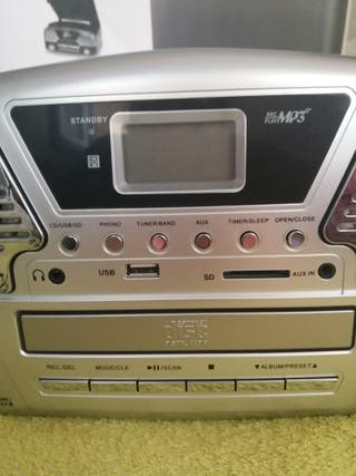 Tocadiscos retro grabadora