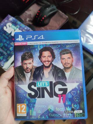 Lets Sing 11 PS4 + 2 MICRÓFONOS