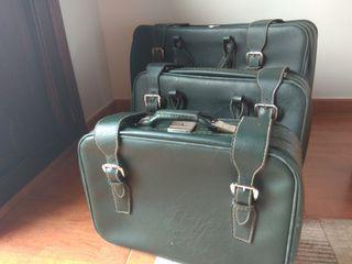 juego 3 maletas de piel