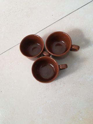 JUEGO, 6 TAZAS, DE CAFÉ.