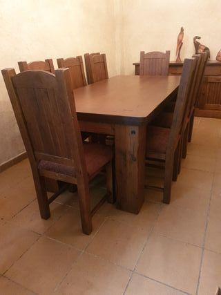 mesa rústica maciza