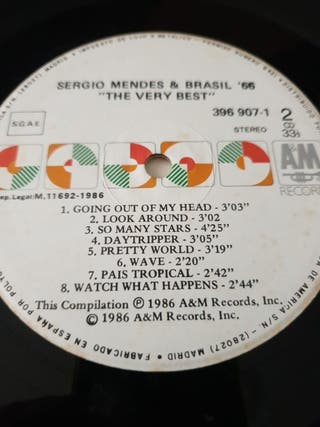 DISCO VINILO SERGIO MÉNDES BRASIL '66 THE VERY