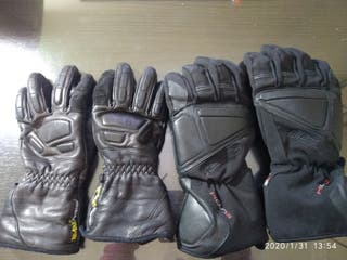 2 pares de guantes para motos