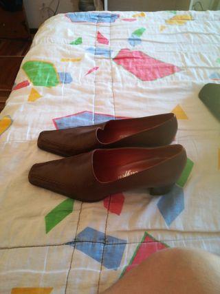vendo, zapatos de piel, para señora,