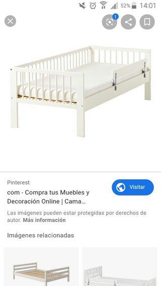 cama niñ@ blanca