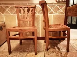 Conjunto cuatro sillas