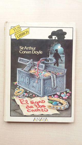 Libro El signo de los cuatro. Conan Doyle.