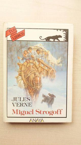 Libro Miguel Strogoff. Jules Verne. Anaya.