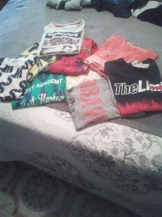 pack de 9 camisetas t / 10/12