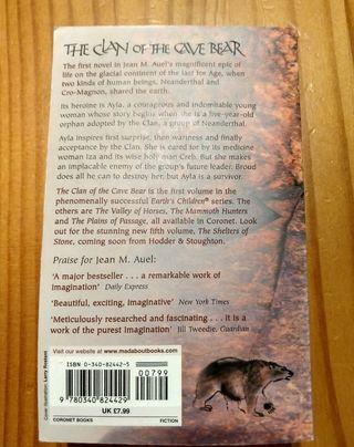 libro en Ingles: The clan of the Cave Bear.