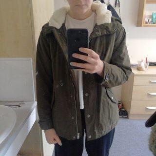 khaki jacket size XS