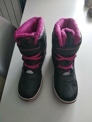 botas nieve niña talla 31