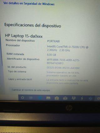Portatil HP exposición
