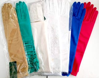 Lote 14 pares guantes fiesta