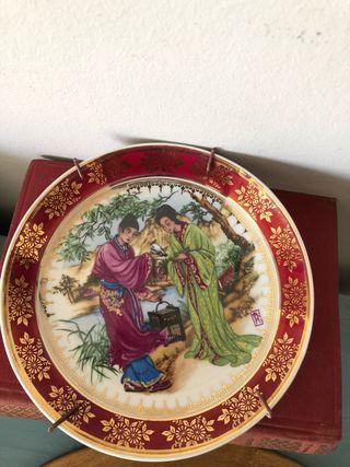 Plato porcelana japonesas