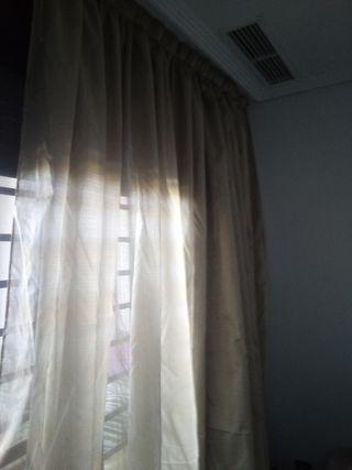 cortinas beige-oro
