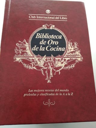 libros de cocina, biblioteca de oro de la cocina