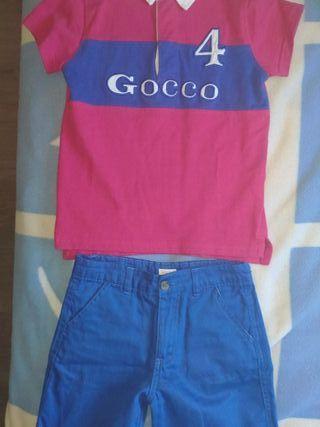 conjunto niño Gocco. t. 5-6 años. perfecto nuevo