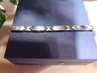 REBAJO pulsera unisex de acero quirúrgico y oro