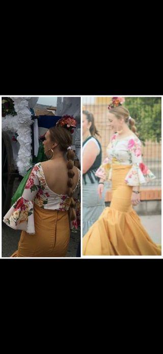 Falda y camisa flamenca.