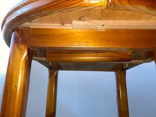 Mesa madera pino antigua extensible