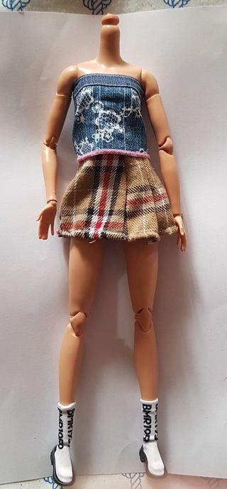 Cuerpo Barbie tall de las BMR1959 con zapatos