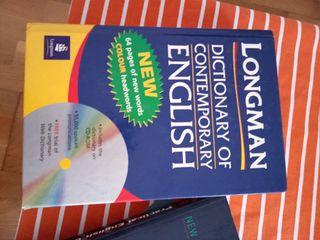 libros gramática inglesa y diccionario