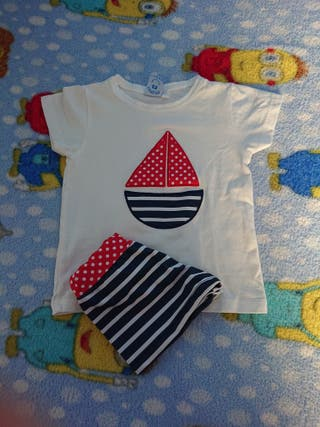 camiseta, bañador niño