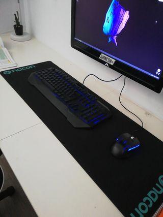 teclado y ratón gaming led