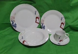 Vajilla porcelana 6 servicios