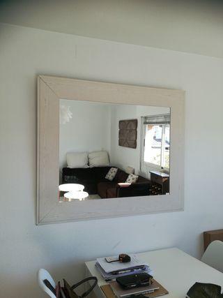 Espejo blanco madera