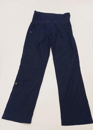 Pantalón recto azul marino