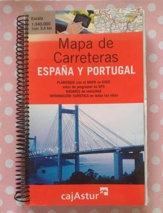MAPA CARRETERAS ESPAÑA Y PORTUGAL