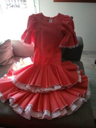 Traje de flamenca de 5a 7 años