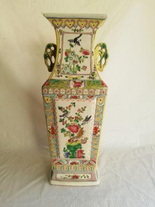 gran jarron chino de porcelana