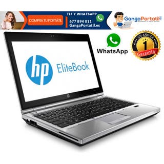 Portátil HP EliteBook 2570P, i5/8Gb/Cam/Windows 10