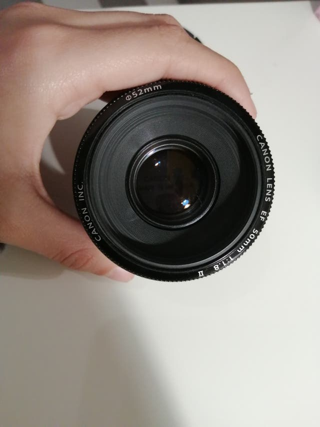 objetivo 50 mm canon