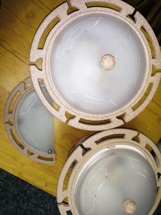 lampas de salón más aplique de pasillo