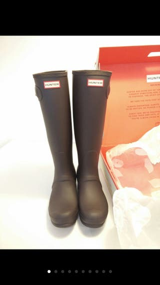 Botas HUNTER nuevas color chocolate