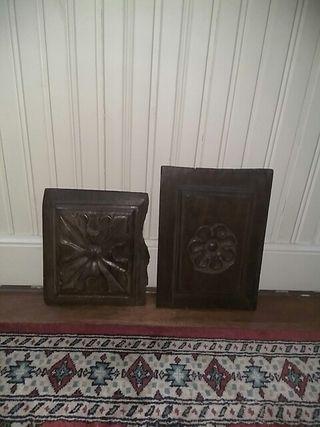 Tablillas de puerta antigua