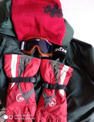 Conjunto ropa y accesorios de esqui!