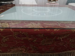 mesa soporte cristal giratorio tv